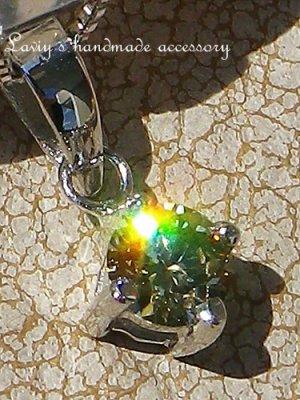 画像1: K14WG/シャンパンカラーダイヤモンドのペンダントトップ