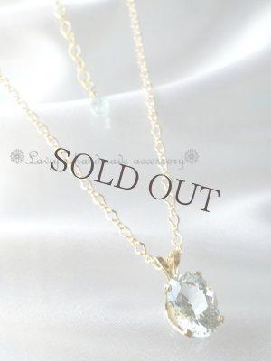 画像5: 非加熱!スリランカ産宝石アクアマリンの1粒ネックレス