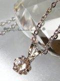 ピンクダイヤモンドの1粒ネックレス