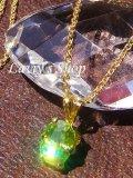 宝石アップルグリーンスフェーンの1粒ネックレス