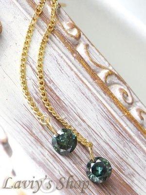 画像2: K18/ブリリアントブルーダイヤモンドのストリングホールピアス