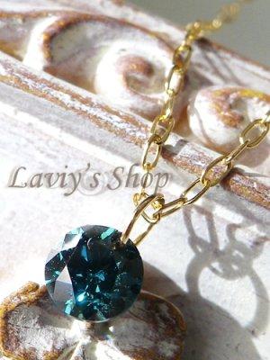 画像1: K18/ブリリアントブルーダイヤモンドのストリングホールネックレス
