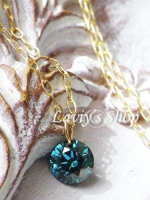 画像2: K18/ブリリアントブルーダイヤモンドのストリングホールネックレス