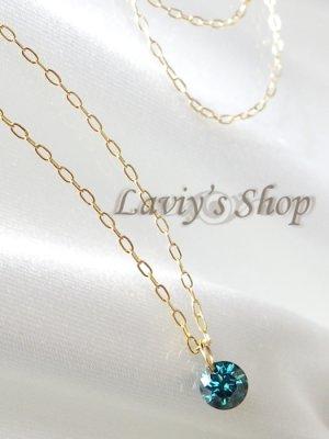 画像4: K18/ブリリアントブルーダイヤモンドのストリングホールネックレス