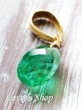 K18/逸品コロンビア産宝石エメラルドのペンダントトップ