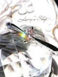 ソーティング付/SI-2グレードアーガイル産ピンクダイヤモンドのK18WGリング