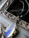美麗オーストラリアンブルームーンの1粒ネックレス