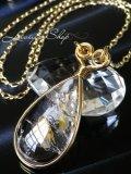 太古の浪漫!大粒バブルinクォーツのデザインネックレス
