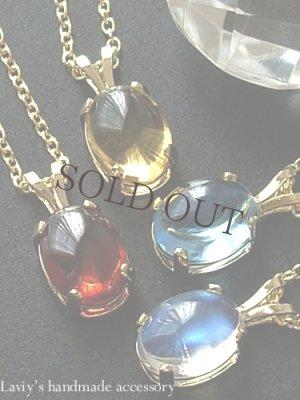 画像1: 大特価!宝石カボションのプチネックレス