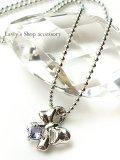 宝石タンザナイトとダイヤモンドのリボンモチーフNK