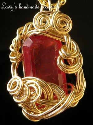 画像3: 宝石ロードナイトのワイヤリングトップネックレス