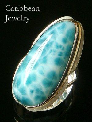 画像4: 大粒濃厚ブルーラリマールのリング