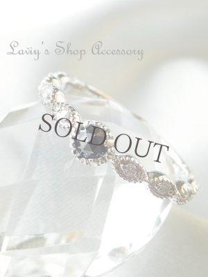 画像1:  Silver925/ローズカットブラックダイヤモンドのリング