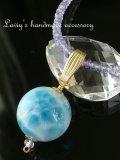 大珠ラリマールとタンザナイトの贅沢ネックレス