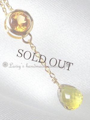 画像2: 宝石2色グロッシュラーガーネットのネックレス