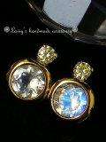 GR.YELLOWダイヤモンドとブルームーンのピアス