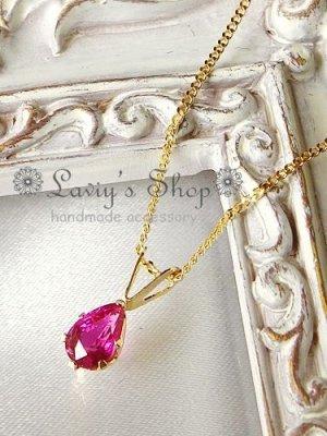 画像3:  K18/K14宝石ルビーの1粒ネックレス