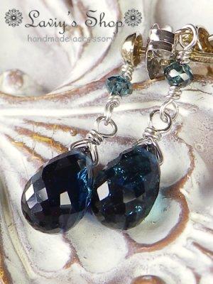 画像4: K14WG/雫インディコライトとブルーダイヤモンドのピアス