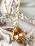 宝石インペリアルトパーズのベゼル枠ネックレス