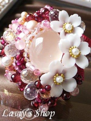 画像3: 贅沢宝石尽くしの桜ブローチ