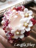 贅沢宝石尽くしの桜ブローチ