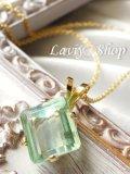 アフリカ産ブルーライングリーンカイヤナイトの1粒ネックレス