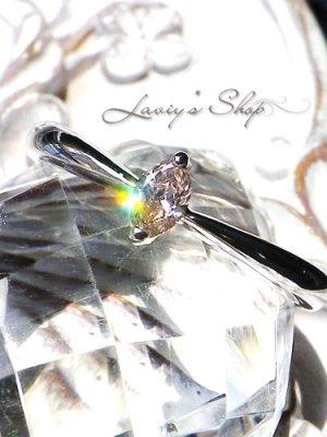 画像1: ソーティング付/SI-2グレードアーガイル産ピンクダイヤモンドのK18WGリング