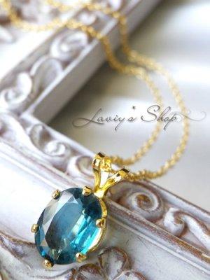 画像1: インド産ブルーグリーンカイヤナイトの1粒ネックレス