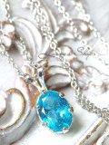 美色!ネオンブルーアパタイトの1粒ネックレス