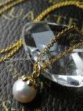 天然色!バロックアコヤ真珠の木の実ネックレス