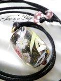 〜匠〜蜻蛉玉のワックスコードネックレス(ロング)