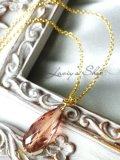 宝石トルマリンブリオレットの1粒ネックレス(ロゼ)