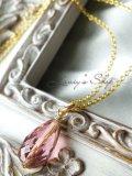 宝石トルマリンブリオレットの1粒ネックレス(クラシカルピンク)