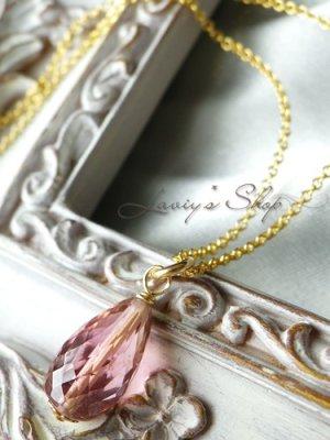 画像1: 宝石トルマリンブリオレットの1粒ネックレス(クラシカルピンク)