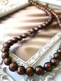 高品質カットパールの一連ネックレス(ブロンズ)