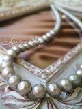 高品質カットパールの一連ネックレス(シルバー)