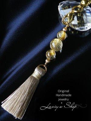 画像1: 高品質ゴールデンルチルクォーツの根付け小物