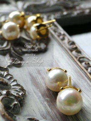 画像3: 天然色!アコヤ真珠の1粒ピアス