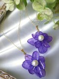 Real flower accessory*紫陽花とアコヤ真珠のネックレス
