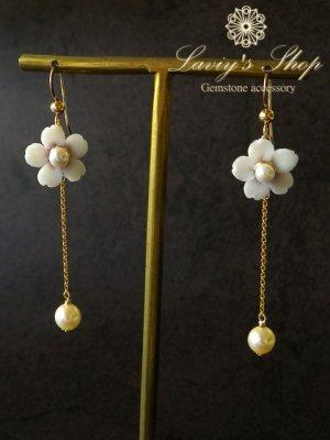 画像4: 『桜ものがたり』アコヤ真珠と桜のチェーンピアス