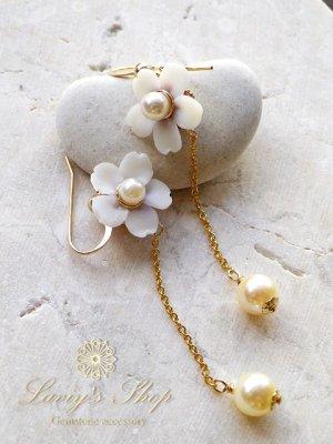 画像3: 『桜ものがたり』アコヤ真珠と桜のチェーンピアス