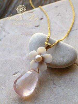 画像4: 『桜ものがたり』大粒ローズクォーツと桜のネックレス