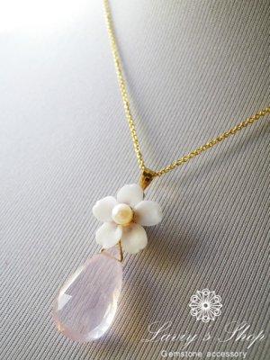 画像5: 『桜ものがたり』大粒ローズクォーツと桜のネックレス