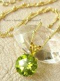 大粒宝石ペリドットの1粒ネックレス