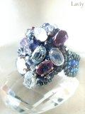 紫陽花色のGemリング