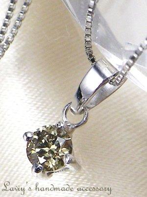 画像3: K14WG/シャンパンカラーダイヤモンドのペンダントトップ