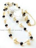 アコヤ本真珠とブラックスピネルのネックレス