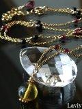 ブルーアンバーのネックレス