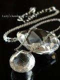 ヒマラヤ水晶オニオンの1粒ネックレス