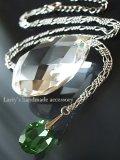大粒!宝石クロムダイオプサイトのネックレス